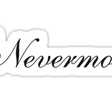 Simple Nevermore Sticker