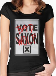 Bad Saxon Poster Women's Fitted Scoop T-Shirt
