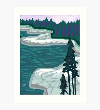 DUCK HARBOR MOUNTAIN TRAIL / IAH  Art Print