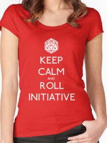 Keep Calm and Roll Initiative Women's Fitted Scoop T-Shirt