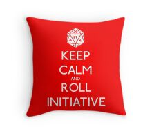 Keep Calm and Roll Initiative Throw Pillow