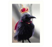 King Raven Art Print