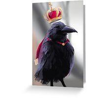 King Raven Greeting Card