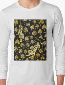 Tiger, jungle animal pattern Long Sleeve T-Shirt