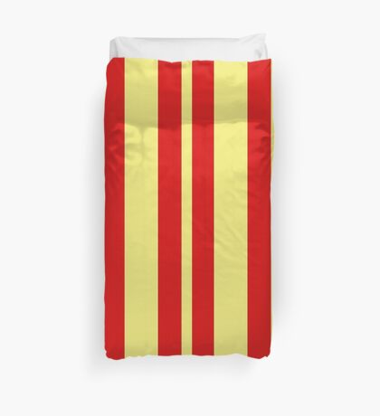 Red Lines Duvet Cover