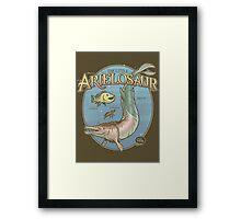 PREHISTORIC PRINCESS - The Little Arielosaur Framed Print