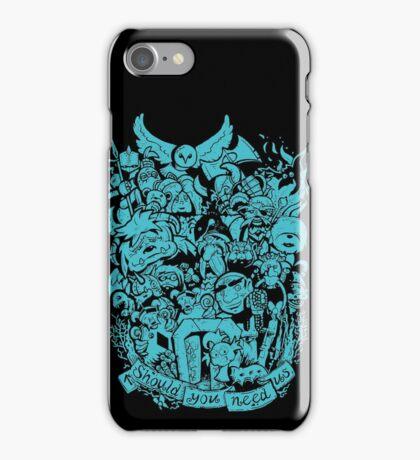 Old Friends - Blue iPhone Case/Skin