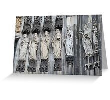 Cologne Cathedral Entrance Statues Greeting Card