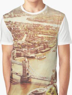 tower bridge aerial Graphic T-Shirt