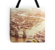 tower bridge aerial Tote Bag
