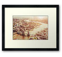 tower bridge aerial Framed Print