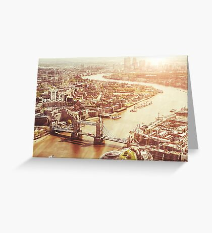 tower bridge aerial Greeting Card