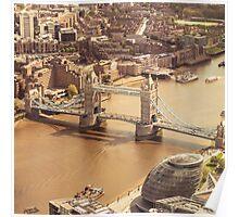 tower bridge aerial Poster