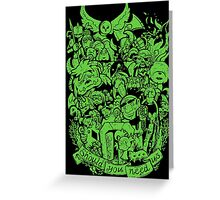 Old Friends - Green Greeting Card