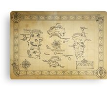 Azeroth map - old hand drawn Metal Print