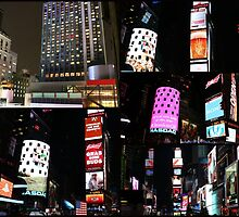 New York City at Night Photo Collage by stine1