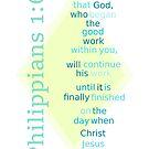 Philippians 1:6 by Mark DeVito