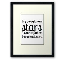 The Fault in Our Stars - My Thoughts Framed Print