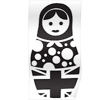 Russian Doll Black & White Poster