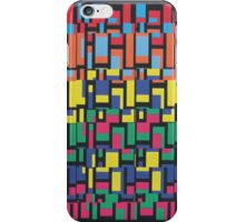 Abstract 80's Colourful Blocks iPhone Case/Skin