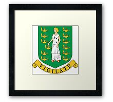 Virgin Island Coat of Arms If you like, please purchase, try a cell phone cover thanks Framed Print
