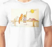Charlie's fishing buddies Unisex T-Shirt