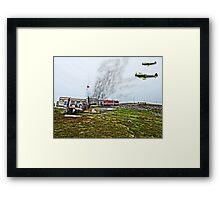 Island At War. Isle of Man. Framed Print