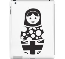 Russian Doll Black & White iPad Case/Skin