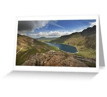 Llyn Llydaw Snowdonia Greeting Card