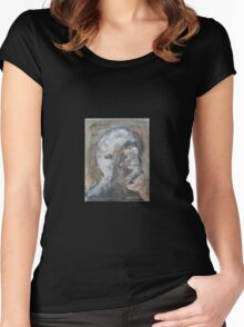 Abstract Face Merch Women's Fitted Scoop T-Shirt