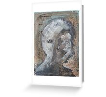 Abstract Face Merch Greeting Card