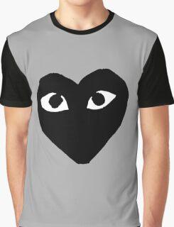 BLACK HEART WHITE EYES BALLERS Graphic T-Shirt