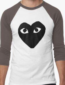 BLACK HEART WHITE EYES BALLERS Men's Baseball ¾ T-Shirt