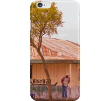Saloon bar at Melelo, Kenya iPhone Case/Skin