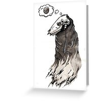 Elk Skull is Hungry Greeting Card