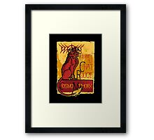 Le Chat Rouge Framed Print