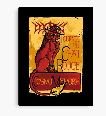 Le Chat Rouge Canvas Print