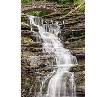 Stewart Falls in Cascadilla Gorge Photographic Print