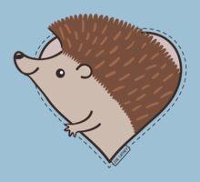 Hedgehog Heart One Piece - Short Sleeve