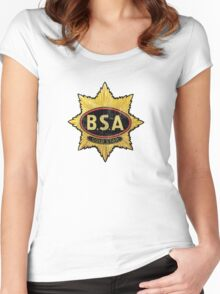BSA vintage Motorcycle England Women's Fitted Scoop T-Shirt