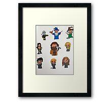 Harry Potter Cartoons Framed Print