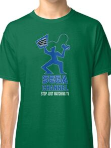 Sega Channel logo Stop Just Watching TV! Classic T-Shirt