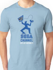 Sega Channel logo Stop Just Watching TV! Unisex T-Shirt