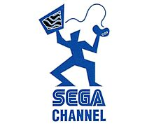 Sega Channel logo Stop Just Watching TV! Photographic Print