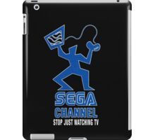 Sega Channel logo Stop Just Watching TV! iPad Case/Skin