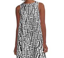 200515 - Black on White A-Line Dress