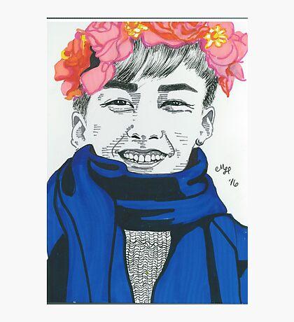 Flower Boy Xiumin Photographic Print
