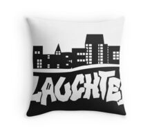 Alphabetical Slaughter BW Throw Pillow