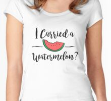 I carried a watermelon dirty dancing Women's Fitted Scoop T-Shirt