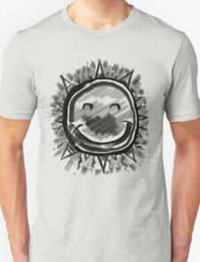 Happy Sun, Sumi Ink Painting Unisex T-Shirt